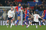 Mathieu Flamini of Crystal Palace © controls the ball.  Emirates FA Cup 3rd round replay match, Crystal Palace v Bolton Wanderers at Selhurst Park in London on Tuesday 17th January 2017.<br /> pic by John Patrick Fletcher, Andrew Orchard sports photography.