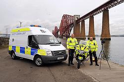 Inspector Ian Paul and David Bulloch with the camera and Bike<br /> <br /> (c) David Wardle   Edinburgh Elite media