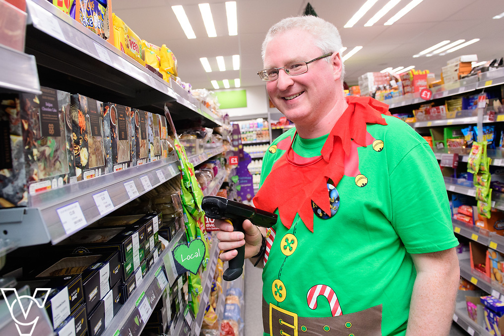 Lincolnshire Co-op: Christmas event day - Dunholme Food Strore, Market Rasen Road, Dunholme. Pictured is Gary Carver.<br /> <br /> Picture: Chris Vaughan Photography for Lincolnshire Co-op<br /> Date: December 1, 2018