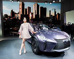 Lexus UX concept crossover vehicle at world premiere at Paris Motor Show 2016