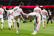 Isco of Spain celebrates a goal with Sergio Ramos during the International friendly game football match between Spain and Argentina on march 27, 2018 at Wanda Metropolitano Stadium in Madrid, Spain - Photo Rudy / Spain ProSportsImages / DPPI / ProSportsImages / DPPI