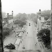 Overhead view of Lucknow Street Scene, Lucknow, Uttar Pradesh, India.