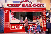 A752M5 Fish and chip market stall Great Yarmouth Norfolk England