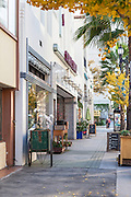 Shops on Colorado Boulevard in Pasadena California