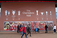 Football - 2021 / 2022 UEFA Champions League - Group B, Round One - Liverpool vs AC Milan - Anfield - Wednesday 15th September 2021<br /> <br /> <br /> The Champions Wall outside Anfield Stadium<br /> <br /> <br /> <br /> Credit COLORSPORT/Terry Donnelly