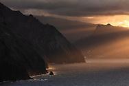 Sunset at Ponta do Rosto in Madera