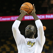ORLANDO, FL - NOVEMBER 15: Tacko Fall #24 of the UCF Knights warms up prior to a NCAA basketball game against the Gardner-Webb Runnin Bulldogs at the CFE Arena on November 15, 2017 in Orlando, Florida. (Photo by Alex Menendez/Getty Images) *** Local Caption *** Tacko Fall