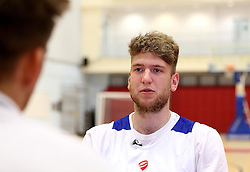 New signing for the Bristol Flyers, Michael Vigor is interviewed by Bristol Flyers TV - Mandatory by-line: Robbie Stephenson/JMP - 05/09/2016 - BASKETBALL - SGS Wise Arena - Bristol, England - Bristol Flyers - British Basketball League - Bristol Flyers New Signings -