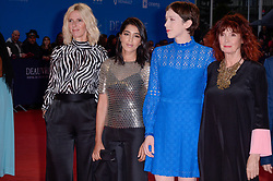 Sandrine Kiberlain, Leila Bekhti, Sara Giraudeau, Sabine Azema attending the premiere of The Sisters Brothers during the 44th Deauville American Film Festival in Deauville, France on September 4, 2018. Photo by Julien Reynaud/APS-Medias/ABACAPRESS.COM