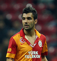 Ziraat Turkey cup elimination match between Galatasaray and 1461 Trabzon at Turk Telekom Arena in Istanbul on 11.12.2012 <br /> Galatasaray knocked out a very surprise result.<br /> Match scored : Galatasaray 1 - 1461 Trabzon 2 <br /> Pictured: Engin Baytar of Galatasaray.