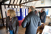 Display of parish council planning information in village hall