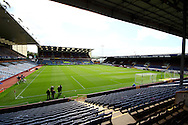 a General view inside the Turf Moor stadium before the game. Skybet football league championship match, Burnley  v Birmingham City at Turf Moor in Burnley, Lancs on Saturday 15th August 2015.<br /> pic by Chris Stading, Andrew Orchard sports photography.