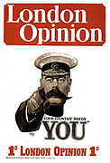 Lord Kitchener 'your country needs you!' poster. World War I