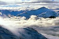 Skiing on Whistler Mountain, Whistler/Blackcomb ski resort, British Columbia, Canada