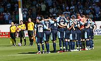 Photo: Steve Bond.<br />Walsall v Swansea City. Coca Cola League 1. 25/08/2007. Swansea players pay their respects to Walsall terainee Anton reid