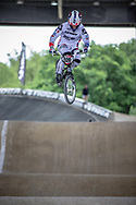 #520 (HEURBIZE BOITIN Joffrey) FRA at Round 5 of the 2019 UCI BMX Supercross World Cup in Saint-Quentin-En-Yvelines, France