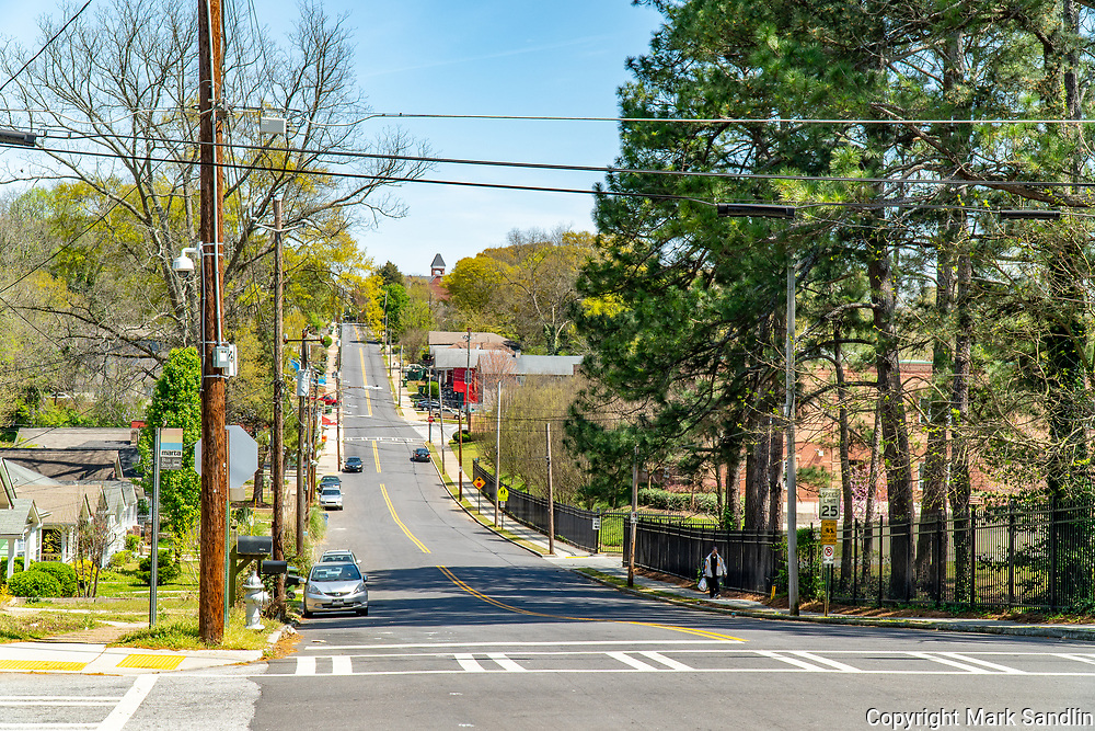 Fair Street, Atlanta westside, Morehouse College is at the top of the hill.