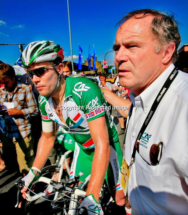 Esch-Sur-Alzette, 20060703. Tour de France 2006. Thor Hushovd kom inn til en 3. plass. xxx....Foto: Daniel Sannum Lauten / Dagbladet *** Local Caption *** Hushovd,Thor ....