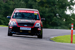 George Davis in action while competing in the BRSCC Fiesta Junior Championship. Picture taken at Cadwell Park on August 1 & 2, 2020 by BRSCC photographer Jonathan Elsey