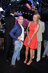 LOUIE SPENCE and TESS DALY at the F1 Party in aid of Great Ormond Street Hospital Children's Charity held at Battersea Evolution, Battersea Park, London on 4th July 2012.