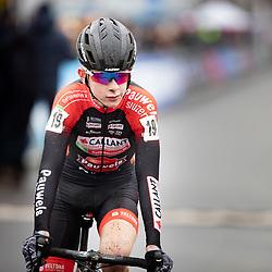 12-01-2020: Wielrennen: NK Veldrijden: Rucphen <br /> Tibor del Grosso (Eelde) pakt de titel bij de junioren