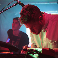 Swiss Lips performing at their first hometown headline show live at The Night and Day Cafe, Manchester, 2013-02-27