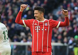 20180121, 1.BL, FC Bayern vs Werder Bremen, Allianz Arena Muenchen, Fussball, Sport, im Bild:...Robert Lewandowski (FCB)..*Copyright by:  Philippe Ruiz..Postbank Muenchen.IBAN: DE91 7001 0080 0622 5428 08..Oberbrunner Strasse 2.81475 MŸnchen, .Tel: 089 745 82 22, .Mobil: 0177 29 39 408..( MAIL:  philippe_ruiz@gmx.de ) ..Homepage: www.sportpressefoto-ruiz.de. (Credit Image: © Philippe Ruiz/Xinhua via ZUMA Wire)