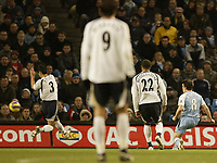 Photo: Aidan Ellis.<br /> Manchester City v Tottenham Hotspur. The Barclays Premiership. 17/12/2006.<br /> City's Joey Barton scores his teams first goal