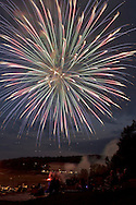 Central Valley, New York - Fireworks explode in the sky during the Woodbury Firecracker Festival at the Monroe-Woodbury athletic fields  on July 7, 2012. The firework show was sponsored by the Highland Mills Fire Company and the Town of Woodbury.