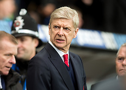 SWANSEA, WALES - Saturday, January 14, 2017: Arsenal's manager Arsene Wenger during the FA Premier League match at the Liberty Stadium against Swansea City. (Pic by Gwenno Davies/Propaganda)