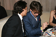 Orlando Bloom & Johnny Depp.**EXCLUSIVE**.2005 Golden Globe Awards Miramax Post Party.Beverly Hilton Hotel.Beverly Hills, CA, USA.Sunday, January, 16, 2005.Photo By Selma Fonseca Celebrityvibe.com, New York, USA, Phone 212-410-5354, email:sales@celebrityvibe.com...