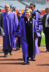 US Secretary of State Hillary Clinton arrives at the New York University (NYU) 177th Commencement at Yankee Stadium in New York City, USA on May 13, 2009. Photo by Gregorio Binuya/ABACAPRESS.COM (Pictured : Hillary Clinton)