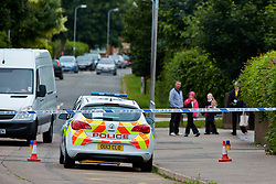© Licensed to London News Pictures.  24/06/2013. AYLESBURY, UK. General view of the scene of a suspicious death in Aylesbury, Bucks. Thames Valley Police were called to a property in Belgrave Road, next to a local primary school,  at 10:43 last night (Sunday)and a man's body was found inside. The death is being treated as unexplained but suspicious. Photo credit: Cliff Hide/LNP