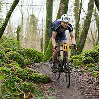 Paul Harrington from Dolmen CC competing in the Ennis CX Cyclocross Race at Lees Rd, Ennis