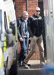 © Licensed to London News Pictures. 21/03/2018. Salisbury, UK. Investigators from the Organisation for the Prohibition of Chemical Weapons (OPCW) arrive at The Mill pub in Salisbury aspolice continue their investigation after former Russian spy Sergei Skripal was taken after he and his daughter Yulia were poisoned with nerve agent. The couple where found unconscious on bench in Salisbury shopping centre. A policeman who went to their aid is currently recovering in hospital. Photo credit: Peter Macdiarmid/LNP