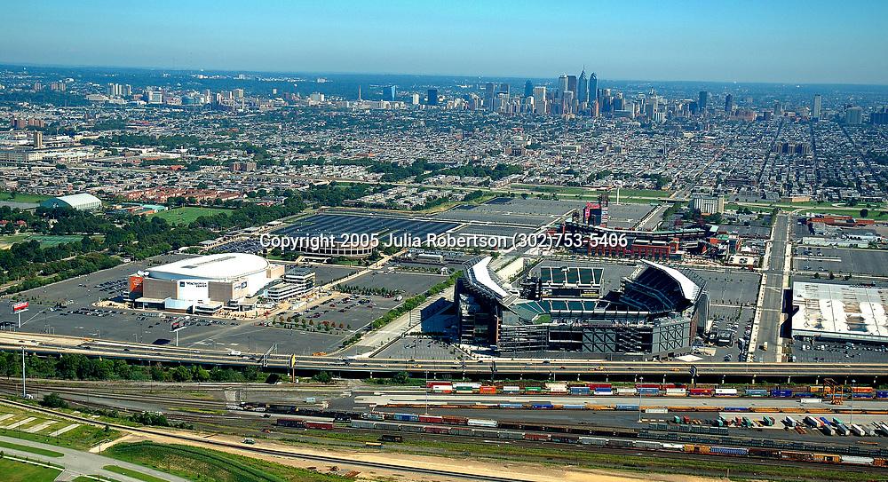 Aerial Photograph of the Philadelphia Phillies, lincoln Financial field, Wachovia Center, Spectrum,  Citizen Bank Park, Pennsylvania