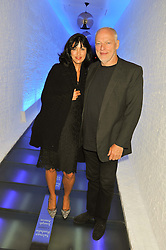 DAVID GILMOUR and POLLY SAMSON at a party to celebrate the publication of Joseph Anton by Sir Salman Rushdie held at The Collection, 264 Brompton Road, London SW3 on 14th September 2012.