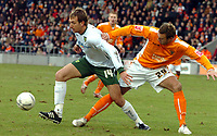 Photo: Paul Greenwood.<br />Blackpool v Norwich City. The FA Cup. 27/01/2007. Norwich's Chris Brown, left, shields the ball from Blackpool's Ian Evatt