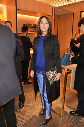 TANIA FARES at the opening party for Moynat's new Maison de Vente in Mayfair at 112 Mount Street, London W1 on 12th March 2014.