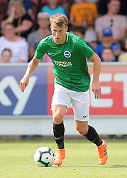 """Brightons Solly March during a pre season friendly match at The Cherry Red Records Stadium, Kingston Upon Thames. PRESS ASSOCIATION Photo. Picture date: Saturday July 21, 2018. Photo credit should read: Mark Kerton/PA Wire. EDITORIAL USE ONLY No use with unauthorised audio, video, data, fixture lists, club/league logos or """"live"""" services. Online in-match use limited to 75 images, no video emulation. No use in betting, games or single club/league/player publications."""