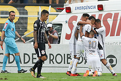 October 29, 2017 - Brazil - CAMPINAS, SP - 29.10.2017: PONTE PRETA X CORINTHIANS - Celebration of the goal of Lucca, the first of Ponte Preta during the match between Ponte Preta and Corinthians held at the Moises Lucarelli Stadium in Campinas, SP. The game is valid for the 31st round of the Brasileirao 2017. (Credit Image: © Fotoarena via ZUMA Press)