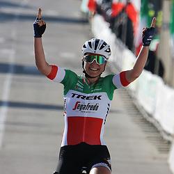 21-03-2021: Wielrennen: Tropheo Alfredo Binda: Cittiglio<br />De Trofeo Alfredo Binda is gewonnen door Elisa Longo Borghini. Op 25 kilometer van het einde opende ze de aanval op een beklimming van de Orino.