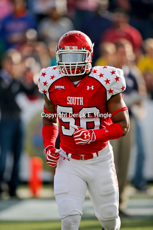 Jan 26, 2013; Mobile, AL, USA; \sbs56\ prior to kickoff of a game against the Senior Bowl north squad at Ladd-Peebles Stadium. Mandatory Credit: Derick E. Hingle-USA TODAY Sports