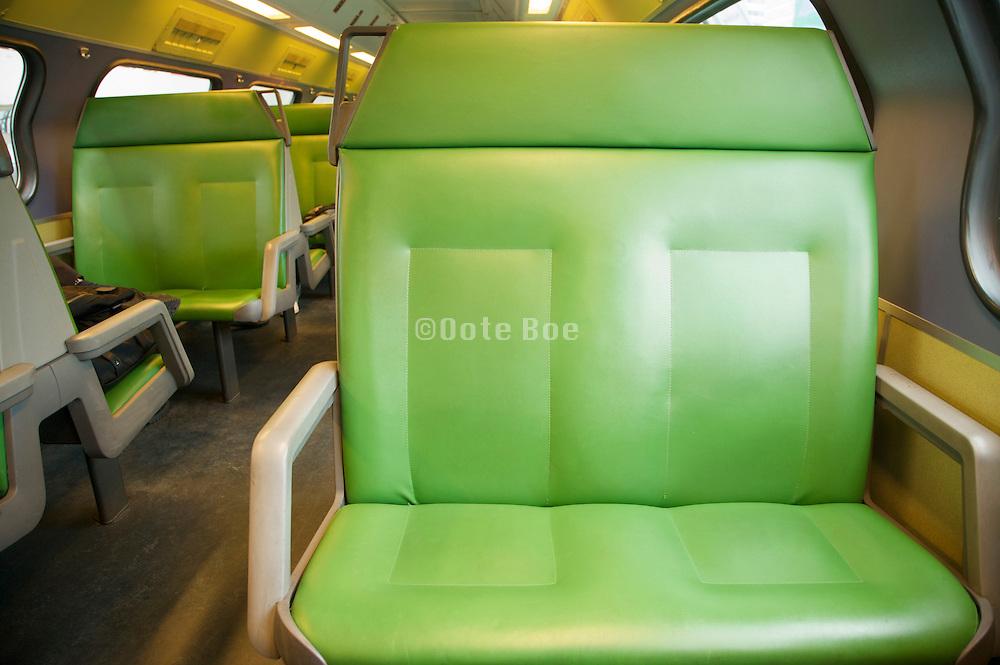 empty seats on a train Holland
