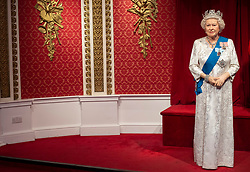 "The empty space left next to the figures of Queen Elizabeth II as Madame Tussauds London moved its figures of the Duke and Duchess of Sussex from its Royal Family set to elsewhere in the attraction, in the wake of the announcement that they will take a step back as ""senior members"" of the royal family, dividing their time between the UK and North America."