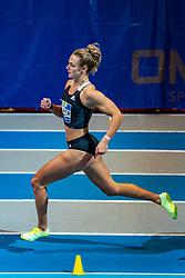 Lieke Klaver in action on the 400 meter during AA Drink Dutch Athletics Championship Indoor on 20 February 2021 in Apeldoorn.