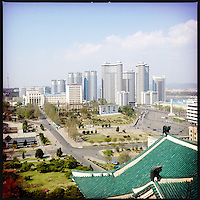 A view over downtown Pyongyang, North Korea.