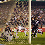 Gum (Centre) scores his sides first goal during the Fluminense FC V CR Vasco da Gama Futebol Brasileirao League match at the Maracana, Jornalista Mário Filho Stadium,  The match ended in a 2-2 draw. Rio de Janeiro,  Brazil. 22nd August 2010. Photo Tim Clayton..