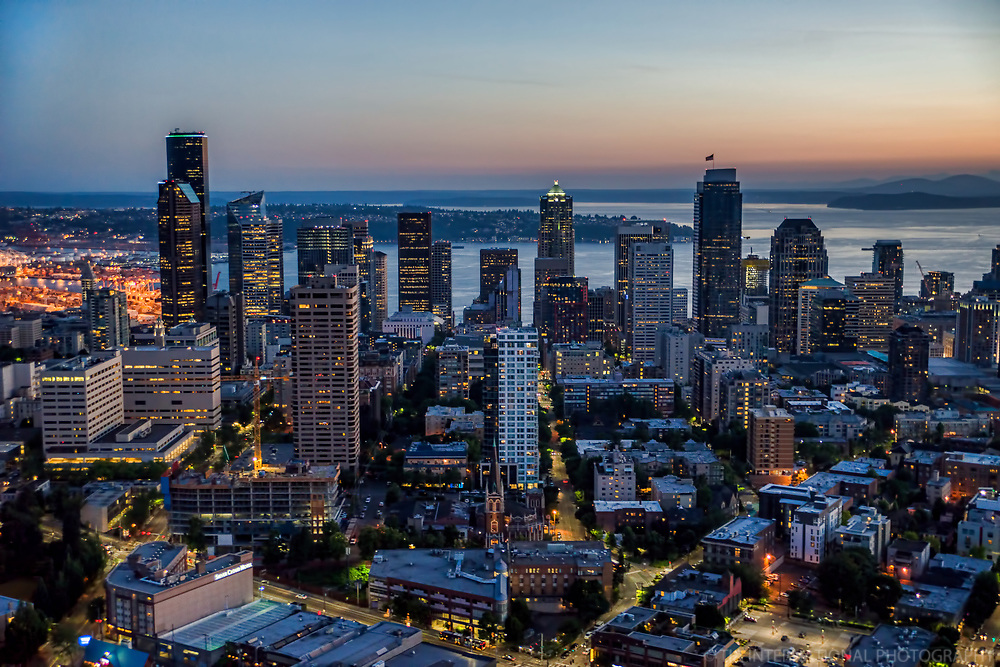 First Hill neighborhood (foreground) & Downtown Seattle