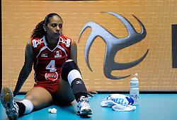 07-11-2010 VOLLEYBAL: WORLD CHAMPIONSHIP: PERU - KOREA: TOKYO<br /> Korea beat Peru with 3-1 / Patricia Soto<br /> ©2010-WWW.FOTOHOOGENDOORN.NL
